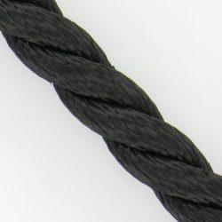 Polyester 3-strengs geslagen zwart