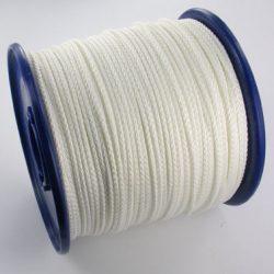 Polyester gevlochten koord wit
