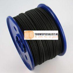 Polyester gevlochten koord zwart