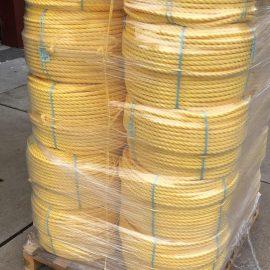 4 kilometer touw 16mm geel voor Tryater